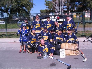 Team photo with goalie