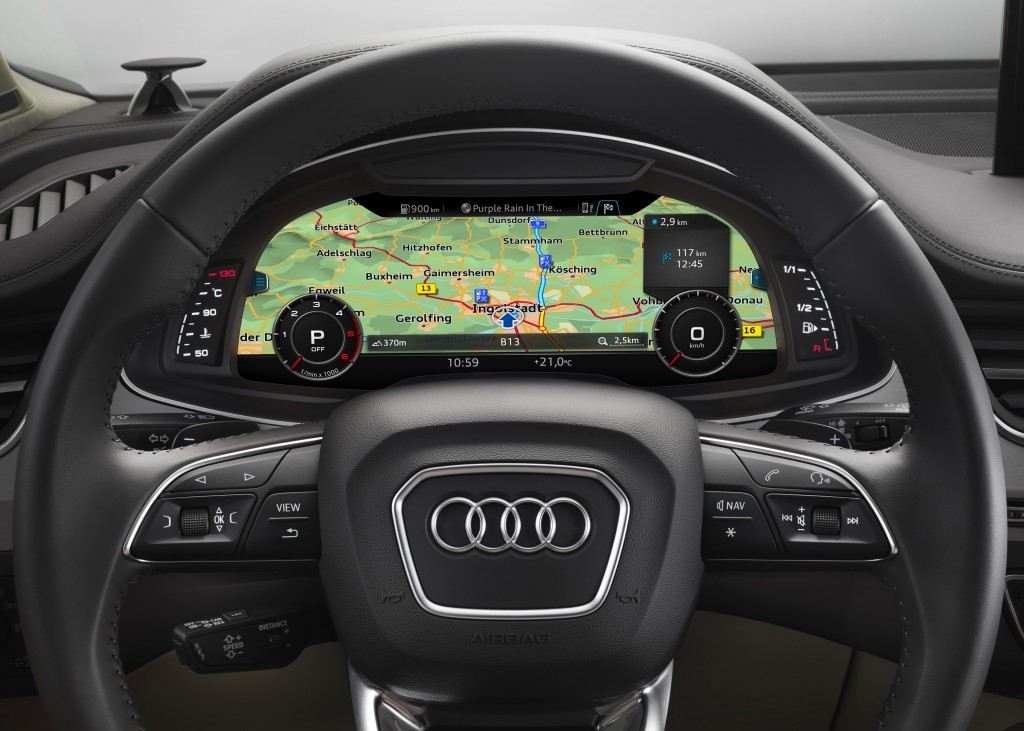 Audi high-resolution navigation.
